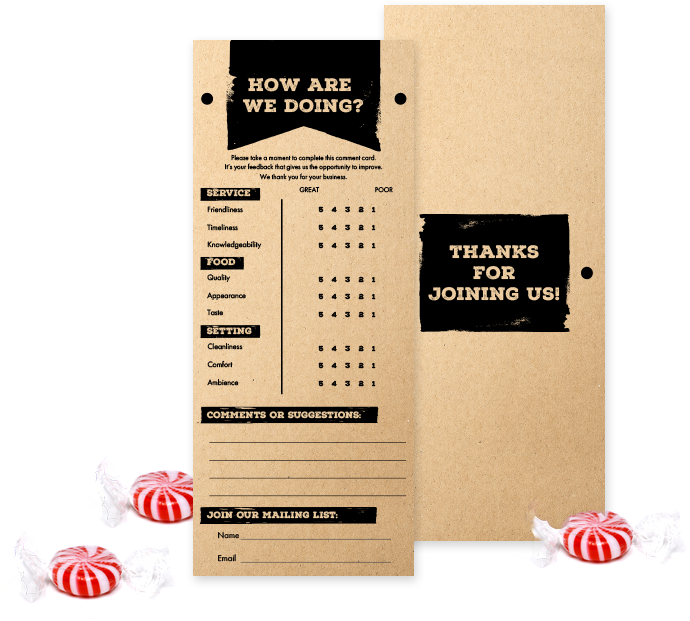 Comment Card Printing